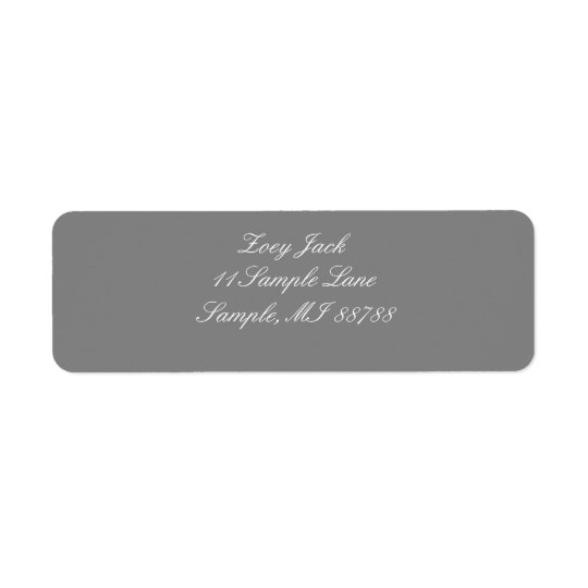 Grey Personalised Address Labels