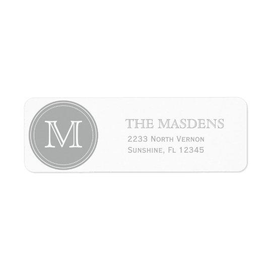 Grey Personalised Custom Monogrammed