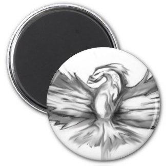 Grey Phoenix Magnet