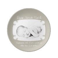 Photo Personalised Newborn Keepsake Plate