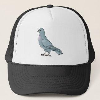 grey pigeon trucker hat
