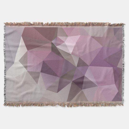 Grey pink , purple polygon pattern . throw
