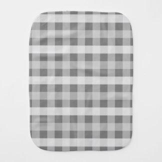 Grey Plaid Burp Cloth