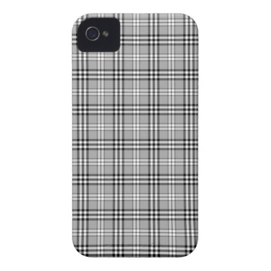 Grey Plaid Iphone 4/4S Case