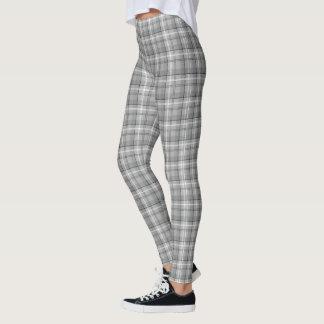 Grey Plaid Leggings