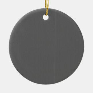 Grey Plain Blank DIY Template add text quote photo Round Ceramic Decoration