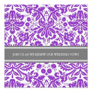 Grey Plum Wedding Vow Renewal Invitation