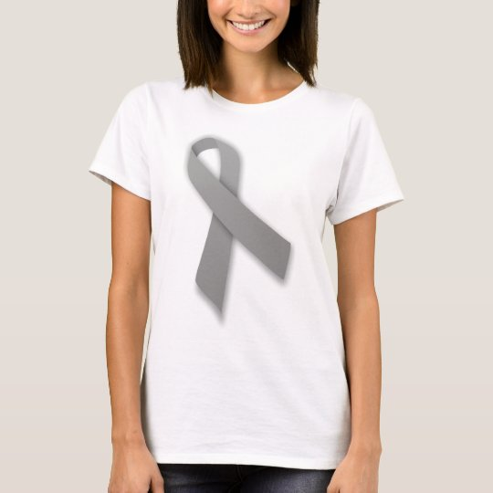 Grey Political Statement Awareness Ribbon T-Shirt