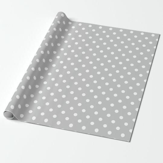 Grey Polka Dot Wrapping Paper