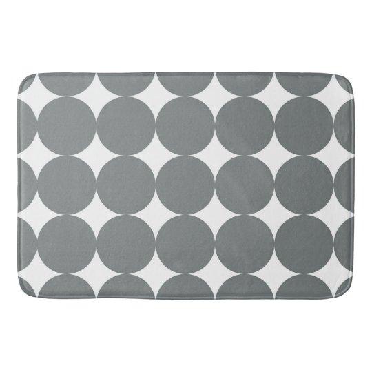 Grey Polka Dots Bath Mats