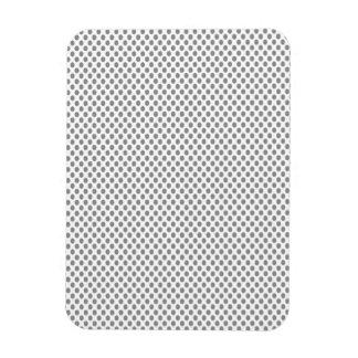 Grey Polka Dots on White Rectangular Photo Magnet