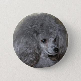 Grey Poodle Button