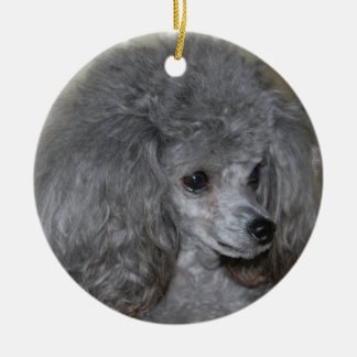 Grey Poodle Ornament