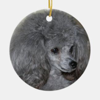 Grey Poodle Ornament