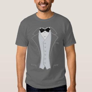 Grey Print Tuxedo Tees