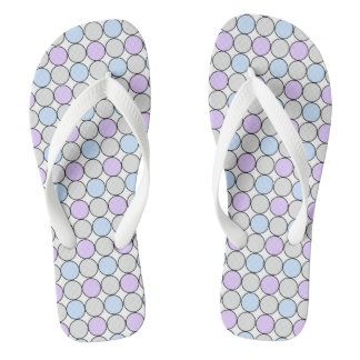 GREY/PURPLE/BLUE PASTEL DOT FLIP FLOP