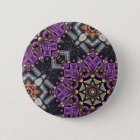 Grey purple fractal steampunk Kaleidoscope 6 Cm Round Badge