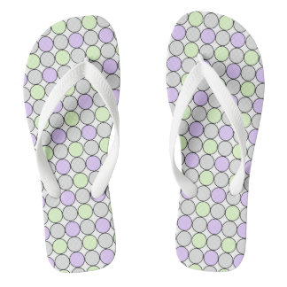 GREY/PURPLE/GREEN PASTEL DOT FLIP-FLOP FLIP FLOPS