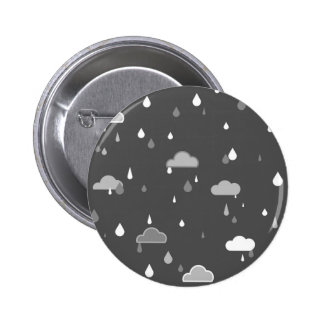 Grey Rains 6 Cm Round Badge