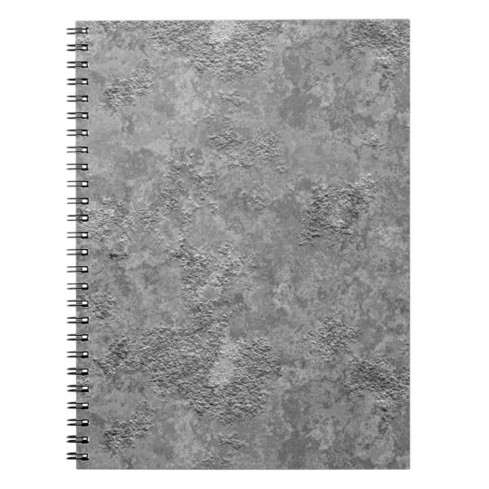 Grey Raw Concrete/Cement Mock-Texture Notebook