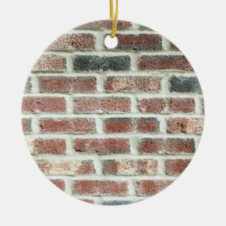 Grey Red Bricks Wall Background Brick Texture Christmas Ornament