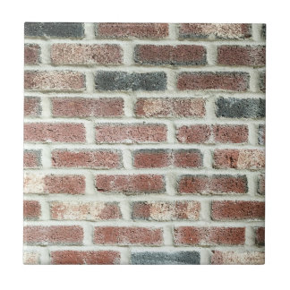 Grey Red Bricks Wall Background Brick Texture Small Square Tile