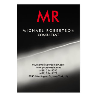 Grey Red Indestructible Special Monogram Unique Pack Of Chubby Business Cards