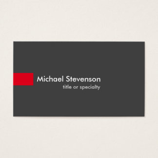 Grey Red Modern Unique Consultant Business Card