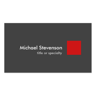 Grey Red Modern Unique Stylish Pack Of Standard Business Cards