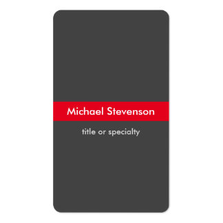Grey Red Vertical Rounded Consultant Business Card