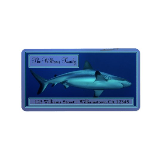 Grey Reef Shark Address Labels