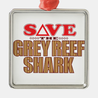 Grey Reef Shark Save Christmas Ornament