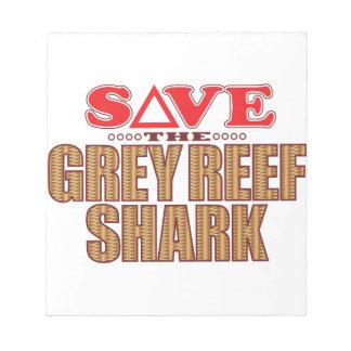 Grey Reef Shark Save Notepads