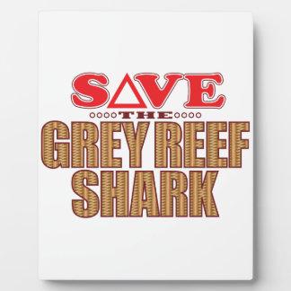 Grey Reef Shark Save Plaque