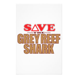 Grey Reef Shark Save Stationery