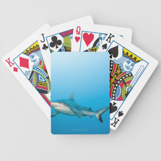 Grey reef sharks (Carcharhinus amblyrhnchos) Bicycle Playing Cards