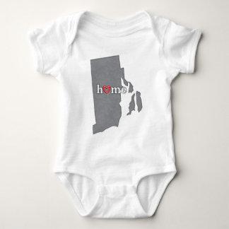 Grey RHODE ISLAND Home & Open Heart Baby Bodysuit