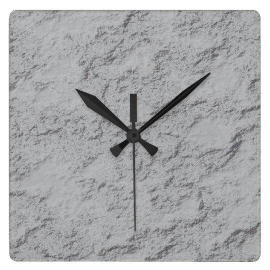 Grey rock square wall clock