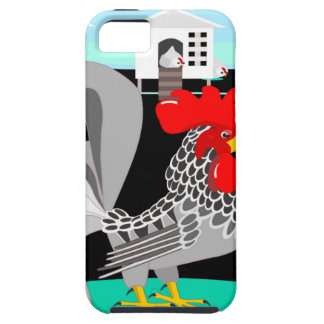 Grey rooster hens iPhone 5 cover