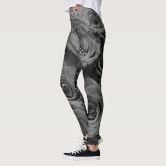 Grey Rose Leggings