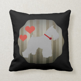 Grey (Salt and Pepper) Schnauzer Pillow