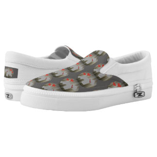 Grey (Salt and Pepper) Schnauzer Shoes Printed Shoes