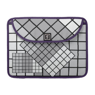 Grey scale abstract sleeve for MacBook pro