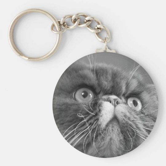 grey scale persian Keychain