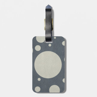 Grey Scattered Spots on Stone Leather print Luggage Tag