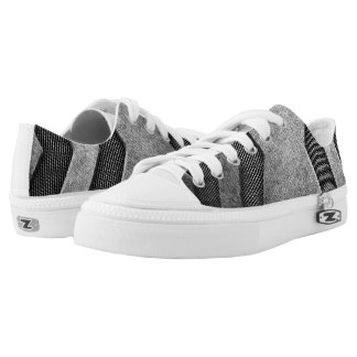 Grey Sci-fi Design Low Top Shoes Printed Shoes