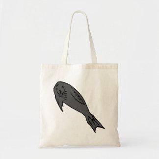 Grey Seal Canvas Bag