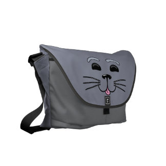 Grey Seal - Cute Graphic Messenger Bag