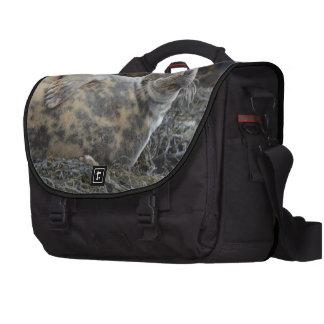 Grey Seal Laptop Messenger Bag