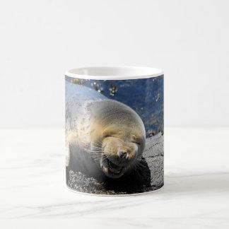 Grey Seal Laughing Mug, so cute Basic White Mug